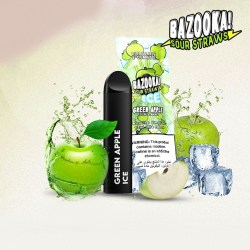 Bazooka SOUR STRAWS Disposable Pods - GREEN APPLE ICE