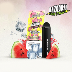 Bazooka SOUR STRAWS Disposable Pods - WATERMELON ICE