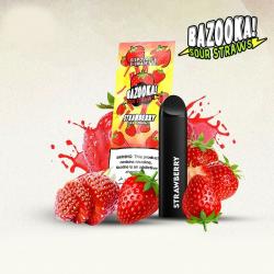 Bazooka SOUR STRAWS Disposable Pods - STRAWBERRY