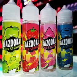 Green Apple ICE Sour Straws by Bazooka