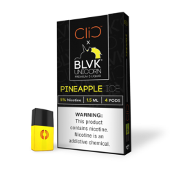 CLIC Pods (50mg/4PodsX1.5ml) - BLVK Unicorn - Pineapple Ice