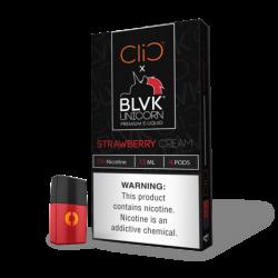 CLIC Pods (50mg/4PodsX1.5ml) - BLVK Unicorn - Strawberry Cream