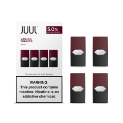JUUL pods (4pods , 30/50mg) - Virginia Tobacco