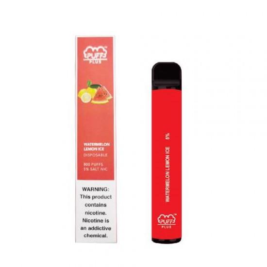 Puff Bar Plus Disposable Pod Device (800puff) - Watermelon Lemon Ice