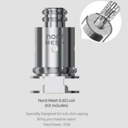 SMOK Nord 2 Replacement Coil 5pcs ( 0.6 ohm Mesh Coil )