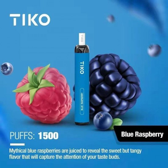 TIKO Disposable with Filter (1500puff-50mg) - Blue Raspberry