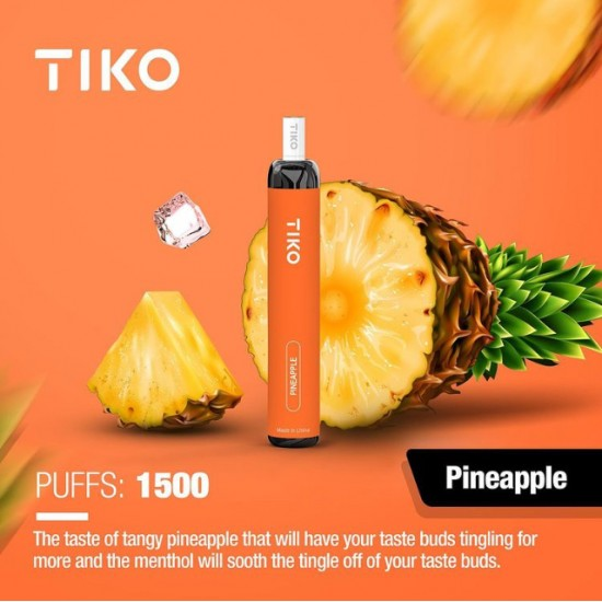TIKO Disposable with Filter (1500puff-50mg) - Pineapple
