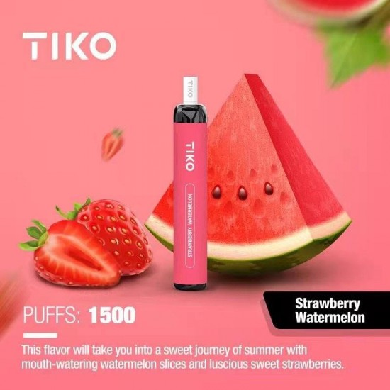 TIKO Disposable with Filter (1500puff-50mg) - Strawberry Watermelon