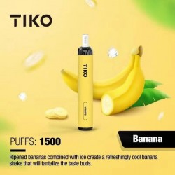 TIKO Disposable with Filter (1500puff-50mg) - Banana
