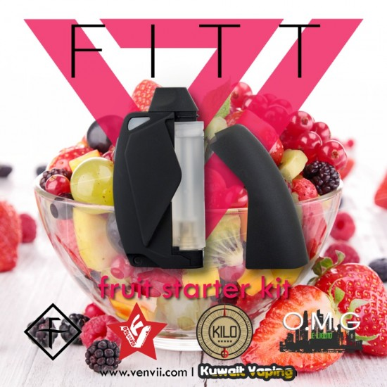 FITT Starter Kit by VapeEnvii + 4x3.2ml pre filled cartridges (flavors are old)
