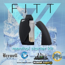 FITT Starter Kit by VapeEnvii + 4x3.2ml pre filled cartridges (flavors are old)