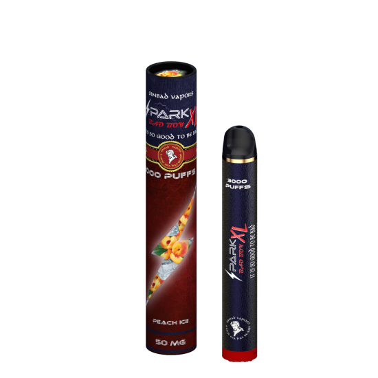 SINBAD SPARK XL BadBoy Disposable (50mg,3000Puff) - PEACH ICE
